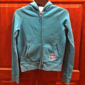 New Original Victoria's Secret PINK Blue Hoodie